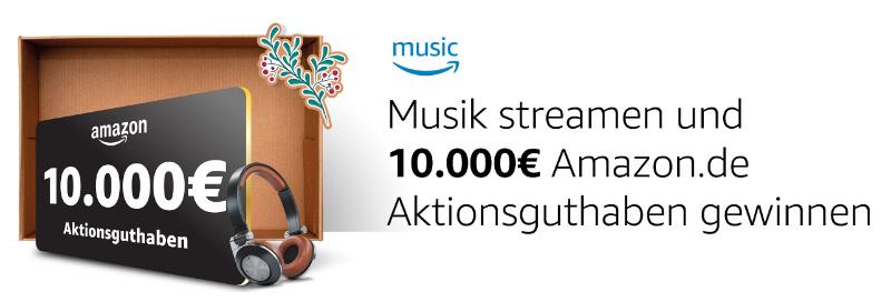Musik hören mit Amazo Prime oder Music Unlimited 10.000 Euro gewinnen