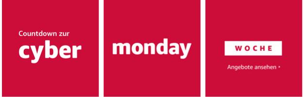 Countdown zur Cyber Monday Woche 2017
