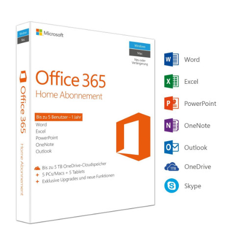 Office 365 Home - 5 PCs günstiger