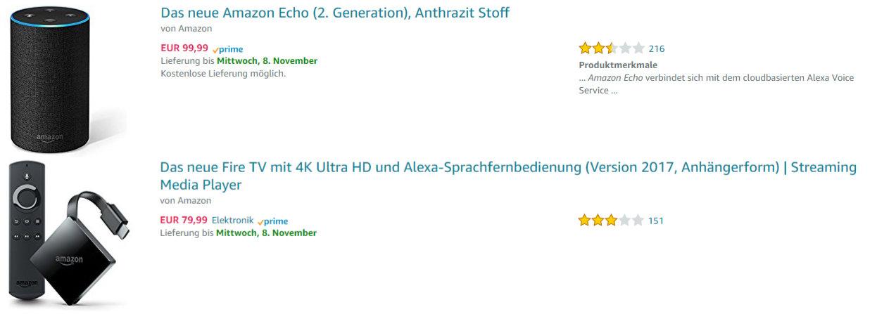 Amazon - Viel Kritik an neuen Geräten - Amazon Echo und Fire TV mit 4K UHD und HDR