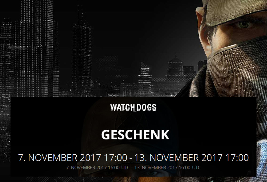 Kostenlose PC-Spiele - Watch Dogs - Ubisoft