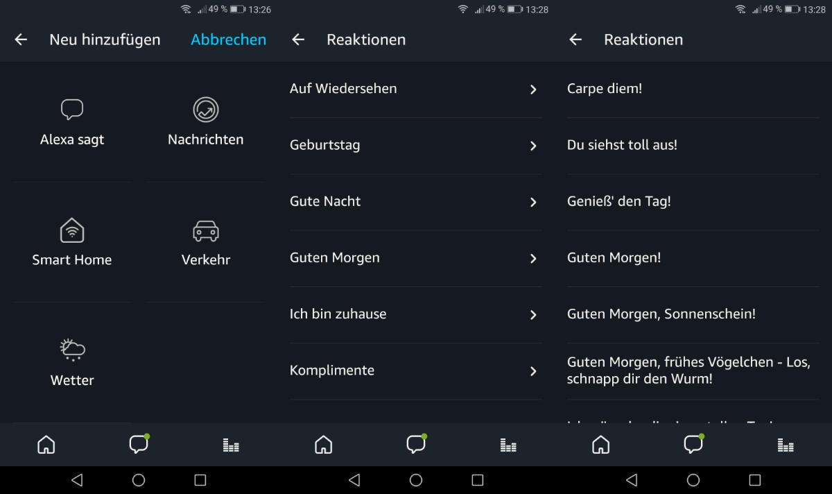 Amazon Alexa Routinen Um Sprachausgaben Von Alexa Erweitern