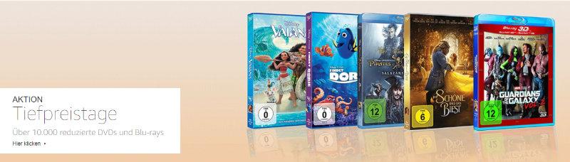 Heimkino - mehr als 10.000 DVDs und Blu-rays reduziert