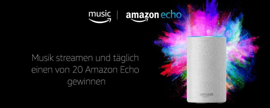 Amazon Echo mit Alexa gewinnen - täglich werden 20 Geräte verlost