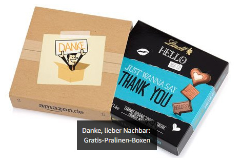 Amazon Gratis Lindt Pralinen - Nachbar Aktion