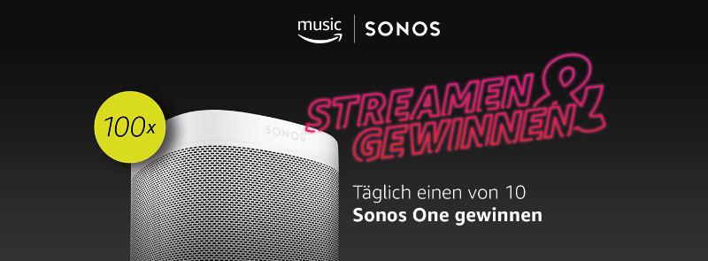 Sonos One mit Alexa gewinnen - täglich 10 Sonos One verlost