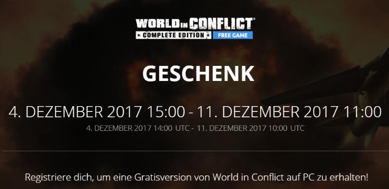 Kostenlose PC-Spiele - World in Conflict - Ubisoft
