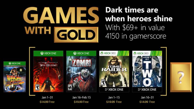 Kostenlose Spiele innerhalb der Xbox Live-Mitgliedschaft Januar 2018
