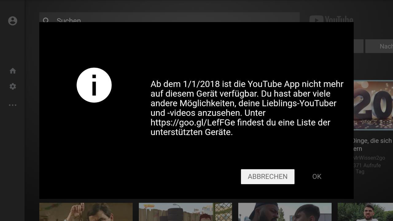 YouTube auf dem Fire TV weiter schauen ohne Browser moch möglich