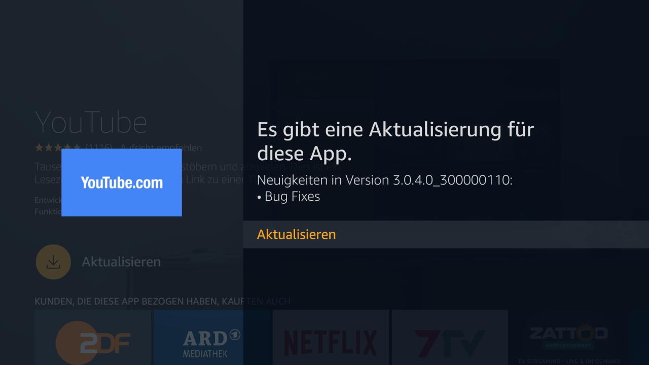 Amazon stellt eigene YouTube App auf dem Fire TV selbst ab