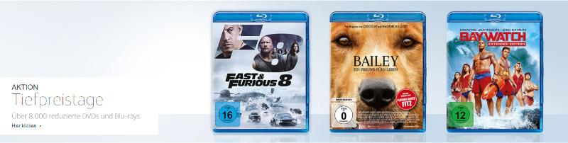 Heimkino - mehr als 8.000 DVDs und Blu-rays reduziert - auch 4K UHD