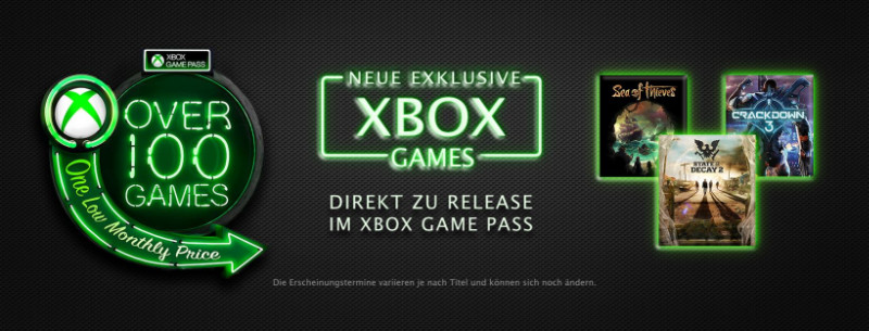 xbox game pass neue exklusive spiele der microsoft. Black Bedroom Furniture Sets. Home Design Ideas