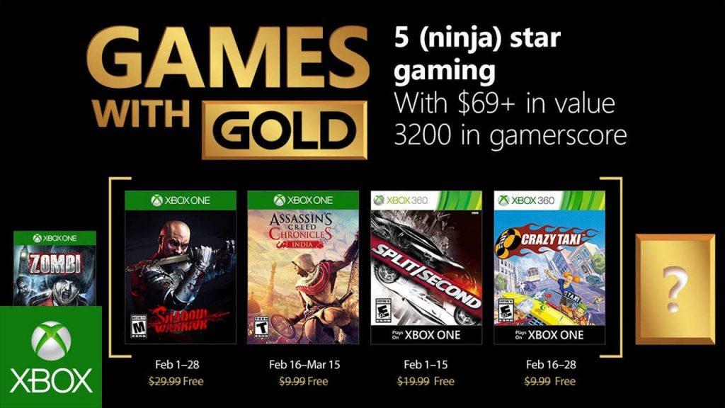 Kostenlose Spiele innerhalb der Xbox Live-Mitgliedschaft Februar 2018