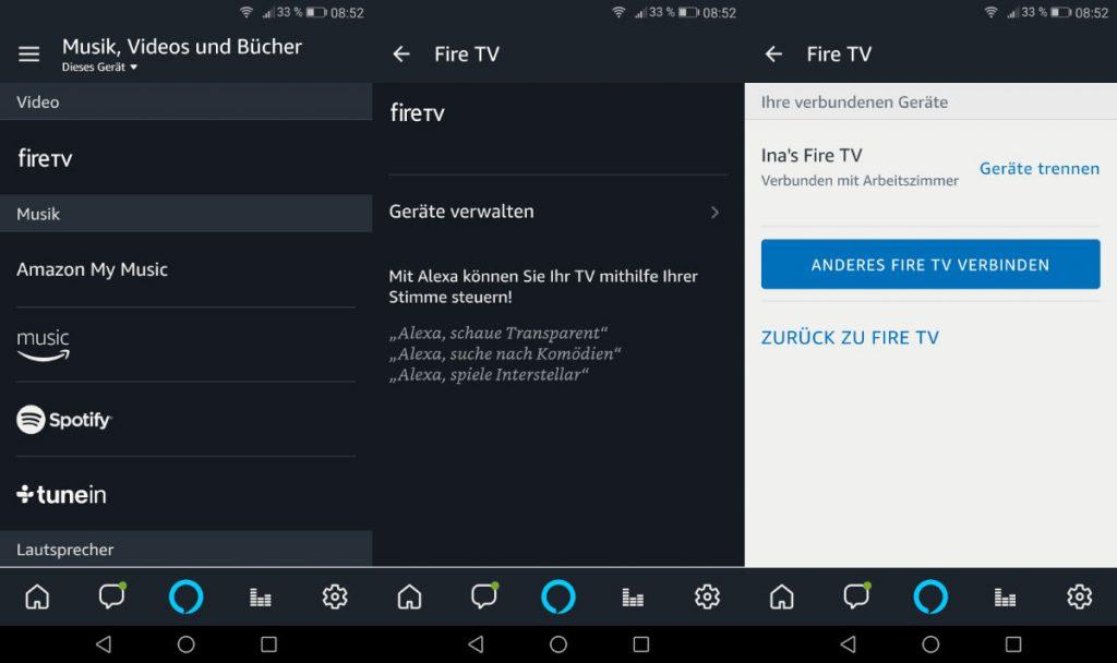 Fire TV und Fire TV Stick mit Amazon Echo, Sonos, Alexa App und mehr Geräten mit Alexa ohne Fernbedienung steuern