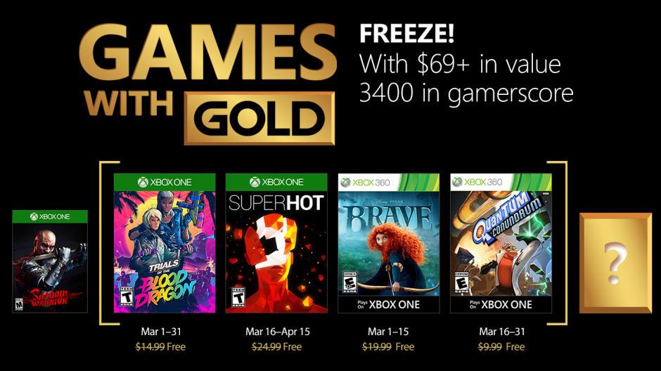 Kostenlose Spiele innerhalb der Xbox Live-Mitgliedschaft März 2018