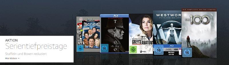 Serientiefpreistage - Staffeln und Boxen günstiger - Februar und März 2018