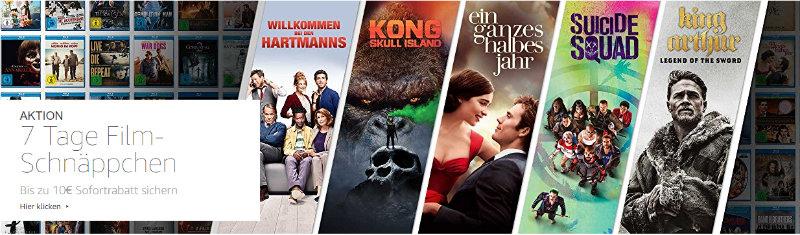 Amazon Filme und Serien reduziert - zusätzlicher Sofortrabatt von 10 Euro