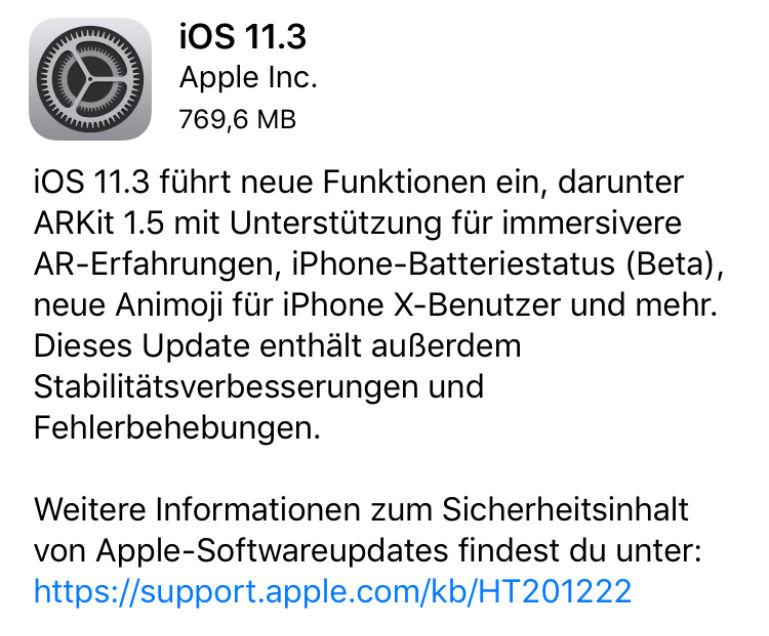 iOS 11.3 - Akkuzustand anzeigen - Drosselung? - Batteriezustand
