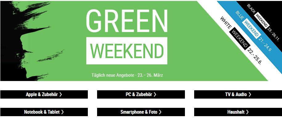 Green Weekend - Cyberport - Apple Produkte und mehr reduziert