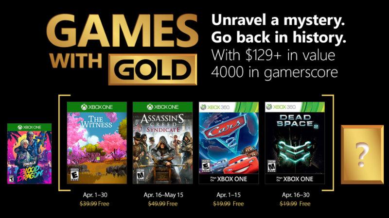 Kostenlose Spiele innerhalb der Xbox Live-Mitgliedschaft April 2018