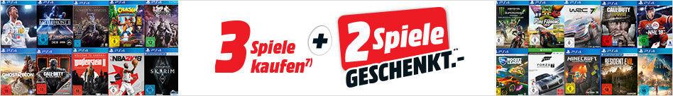 MediaMarkt - 3 Spiele kaufen + 2 geschenkt - 5 für 3-Aktion