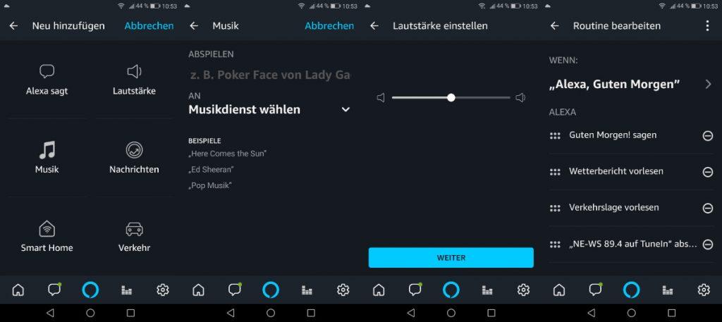 Alexa Routine Radio und Musik - Musik und Radiosender in Alexa Routinen einbinden (Alexa App)