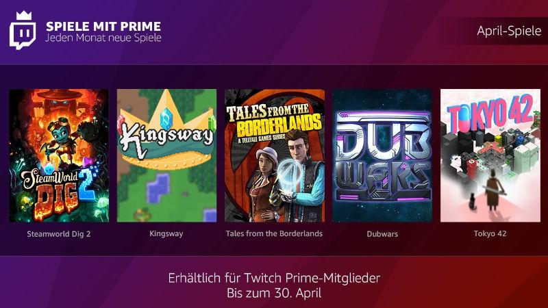 Spiele mit Prime - jeden Monat neue kostenlose PC-Spiele - April 2018
