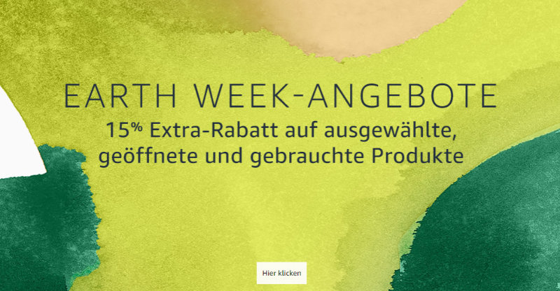 Warehouse Deals 15% Extra-Rabatt - Earth Week Angebote
