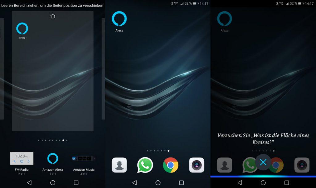 Amazon Alexa - Widget für Android Smartphones