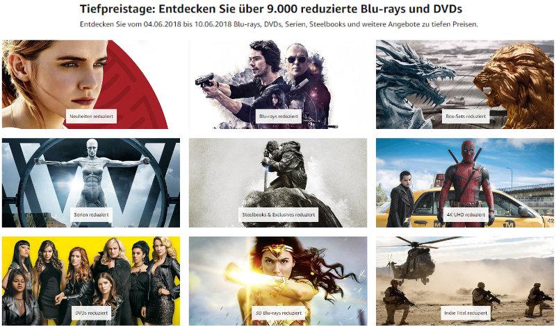 Heimkino - mehr als 9.000 DVDs und Blu-rays reduziert - auch 4K UHD
