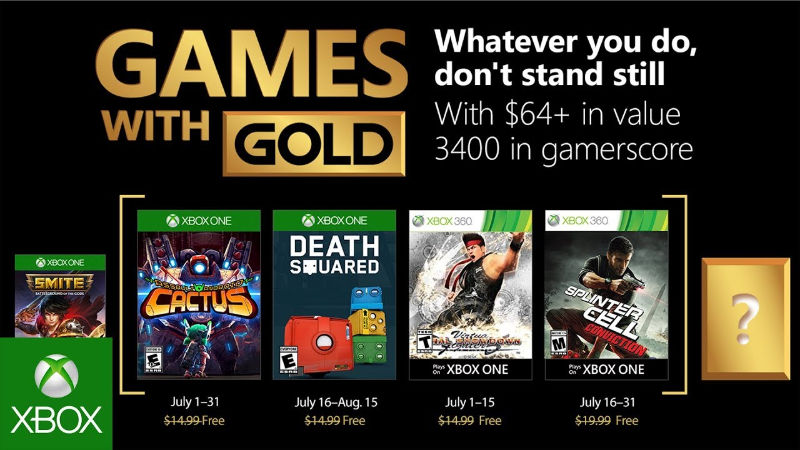 Xbox Live - Games with Gold Juli 2018