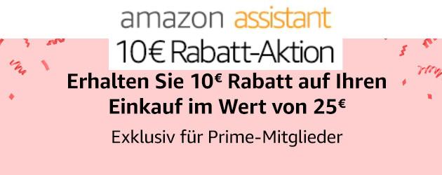 10 Euro Amazon Gutschein - mit Prime nur Browsererweiterung installieren