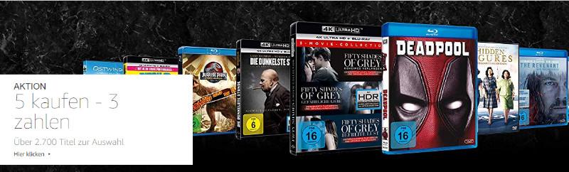 5 kaufen - 3 zahlen - Filme, Serien, 4K UHD, DVDs, Blu-rays, Boxsets