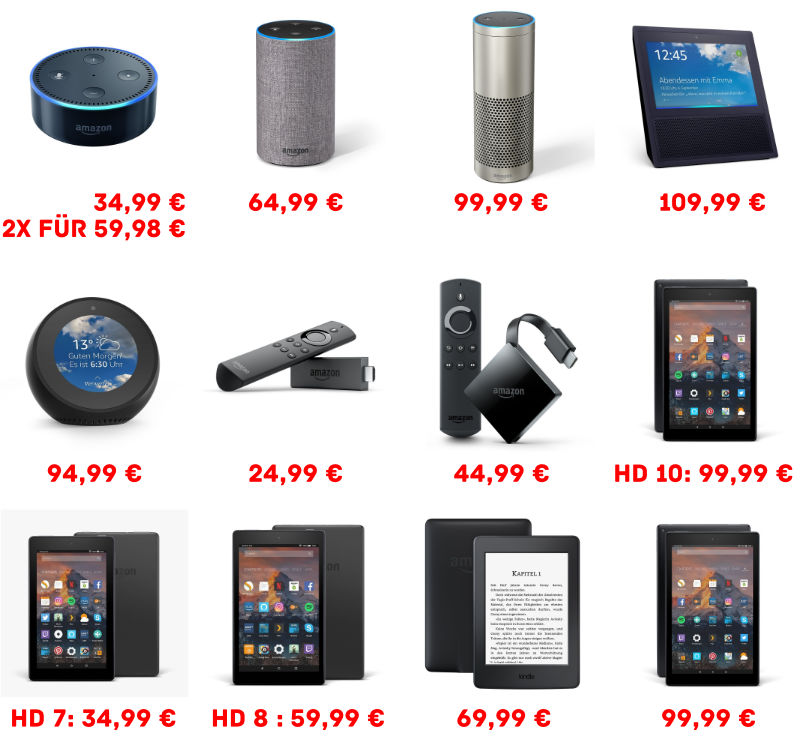 Amazon Prime Day 2018 - Echo, Fire TV, Fire Tablet, Kindle Paperwhite