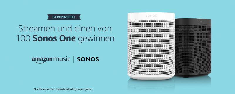 Sonos One mit Alexa gewinnen - einen von 100 Lautsprechern mit Alexa