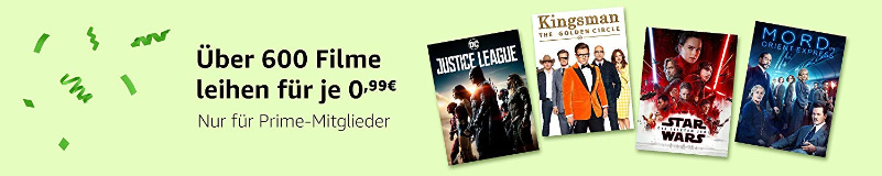 Amazon Video - 600 Filme für 99 Cent - Prime Day 2018