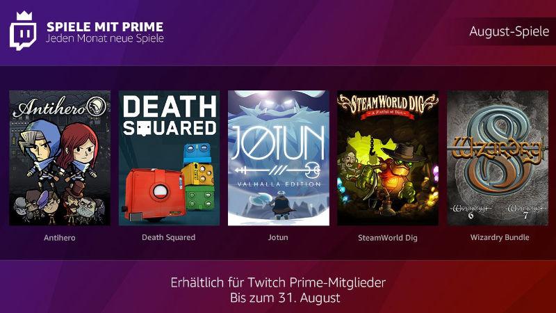 Spiele mit Prime - jeden Monate kostenlose Spiele - August 2018