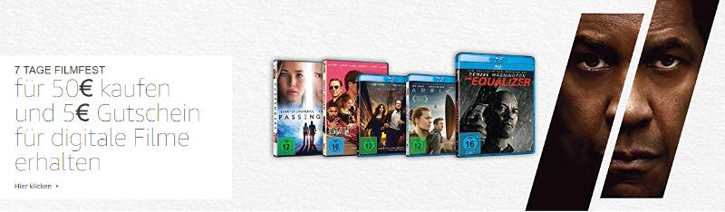 Filmfest Amazon - August 2018 - reduzierte Filme und Serien