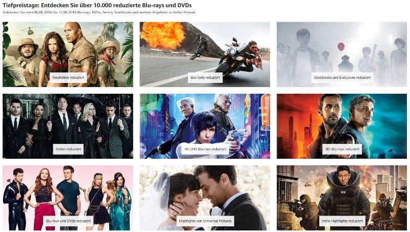 Heimkino - mehr als 10.000 DVDs und Blu-rays reduziert - auch 4K UHD