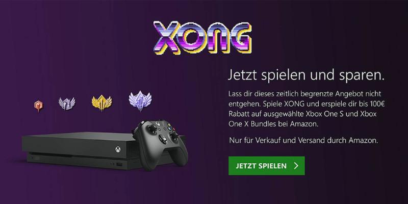 Bis zu 100 € als Amazon-Gutschein für ausgewählte Xbox One S und X Konsolen