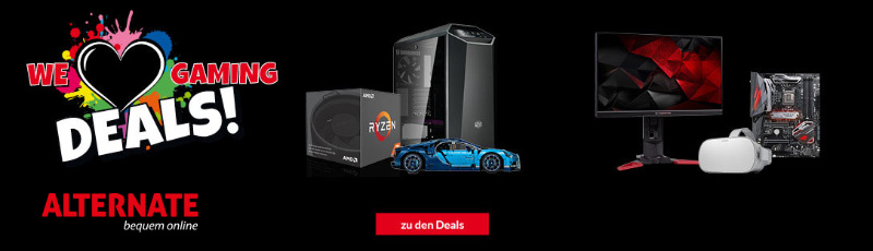 We love Gaming Deals - Gamescom-Aktion mit Angeboten und Rabatten