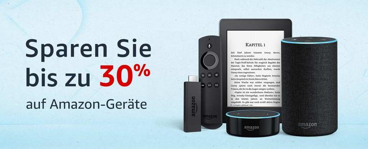 Rabatte auf Fire TV, Fire TV Stick, Amazon Echo, Echo Spot, Echo Show, Kindle Paperwhite und mehr