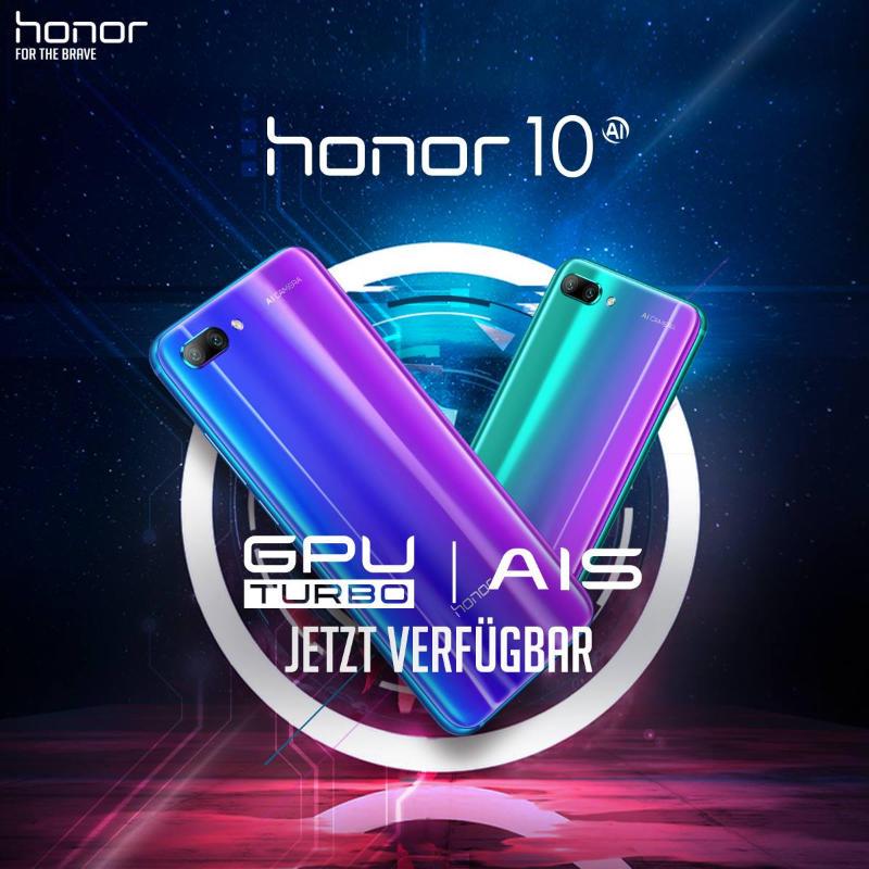 Honor 10 GPU-Update, Kameraverbesserung, bessere Akkulaufzeit