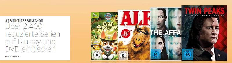 Serientiefpreistage bei Amazon - günstige Serien fürs Heimkino