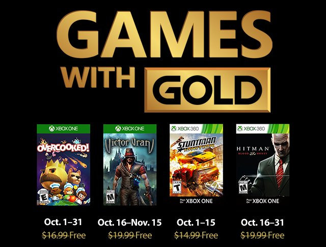 Xbox Live - Games with Gold Oktober 2018
