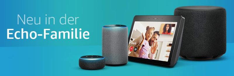 Amazon Echo - Neue Geräte und neue Generationen in Sachen Echo-Lautsprecher und Zubehör