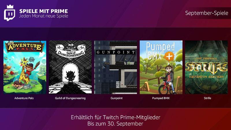 Spiele mit Prime - jeden Monate kostenlose Spiele - September 2018
