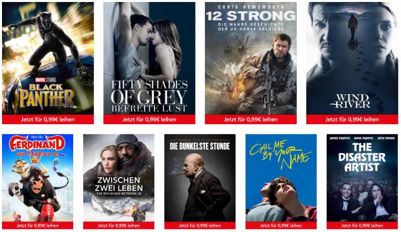 Freitag Filme Abend jetzt Teil der Prime Deals - 9 Filme für je 99 Cent