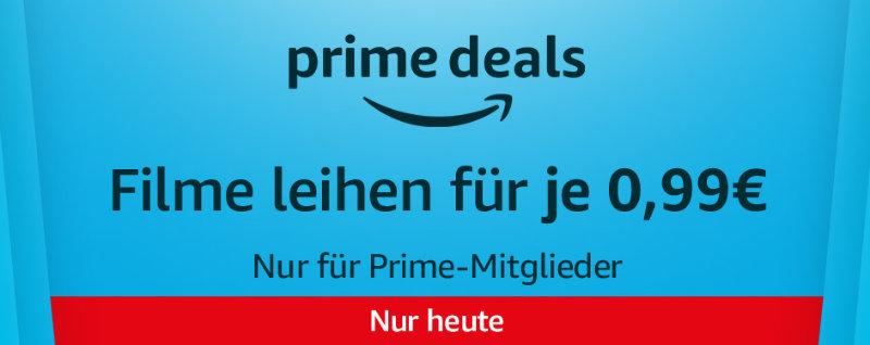 Prime Deals - Filme für 99 Cent leihen mit Prime
