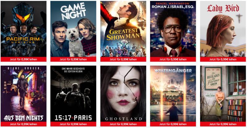 Freitag Filme Abend jetzt Teil der Prime Deals - 10 Filme für je 99 Cent